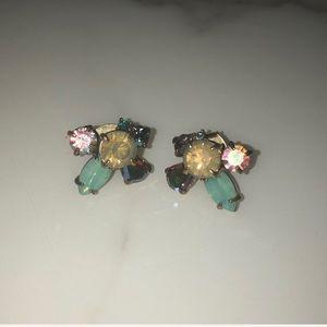 J Crew Crystal Cluster Earrings